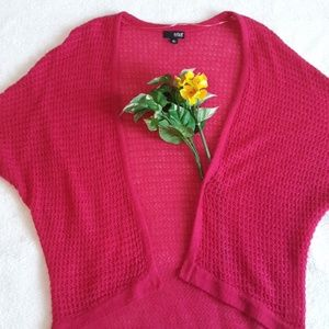 a.n.a Sweaters - A.N.A. Pink Knit High Low Cardigan M
